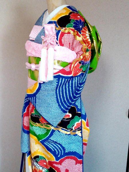 ★A-7 正絹振袖御引き 総絞り・松竹梅 一式レンタル料金¥55000(税別)