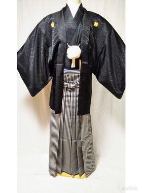 男性紋付袴 D-002 卒業式・フルレンタル¥25000 浅草店着付け¥6900サムネイル