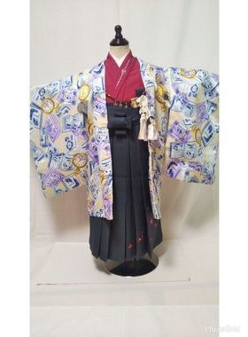 七五三 S-501 五歳レンタル衣装一式¥11000 浅草店での着付け無料❢サムネイル