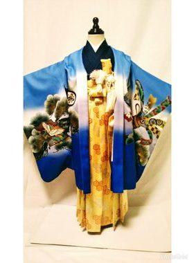 七五三 S-502 五歳レンタル衣装一式¥11000 浅草店での着付け無料❢サムネイル