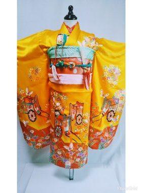 七五三 S-705七歳レンタル一式¥22000 浅草店での着付け無料❢サムネイル