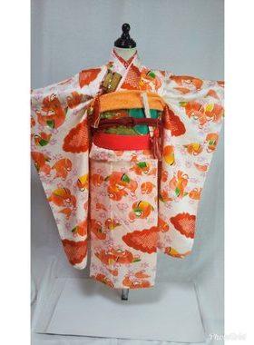 七五三 S-708七歳レンタル一式¥22000 浅草店での着付け無料❢サムネイル