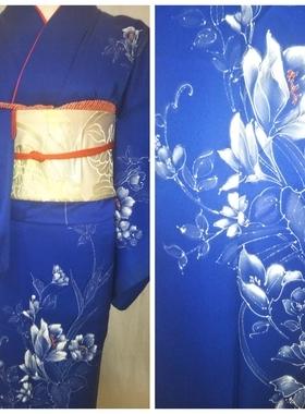 ★正絹訪問着 H-117 レンタル一式¥28000 浅草店での着付け無料! 身丈147㎝サムネイル