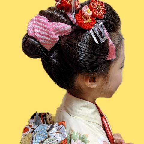 七五三のご予約❢受付中〜7歳様の日本髪もお任せくださいませサムネイル